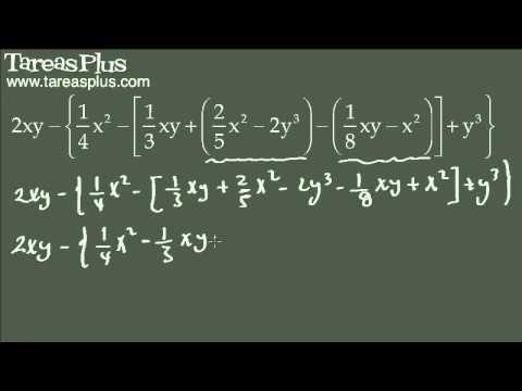 Eliminación de signos de agrupación en polinomios algebraicos 2