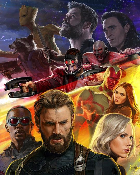 Third portion of the Avengers: Infinity War poster! Steve's look intrigues me, he looks like he has been through a lot, physiologically.