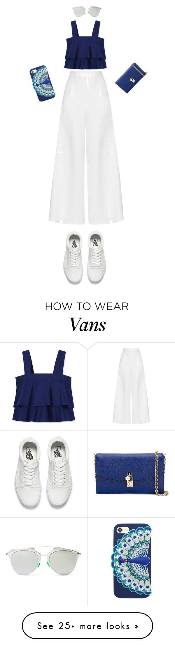 """""""Untitled #223"""" by bbynizzle on Polyvore featuring Tory Burch, Miguelina, Vans, Christian Dior, Kate Spade and Dolce&Gabbana"""