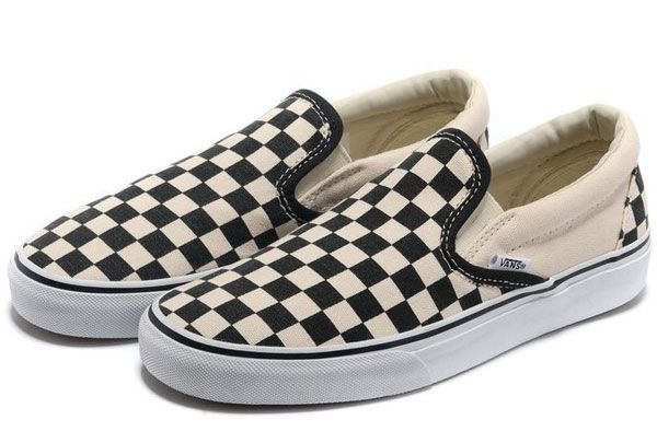 2013 Summer Vans Classic Checkerboard Slip-On Skateboard Black Beige Women&Men Canvas Sneakers [YV03] - $58.00 : The Vans Sk8 High and Half Cab Skate Shoes all on Authentic and Classic Slip-On Vans Checkerboard Skate Shoes Outlet