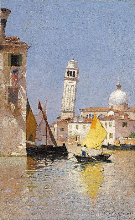 Venice. View Of San Pietro Di Castello Rubens Santoro
