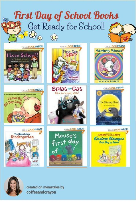 First Day of School Books - great books to get kids ready for heading back to school!
