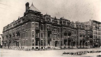 The St. Benedict Apartment Building, corner of Chicago Ave and Wabash, 1882…