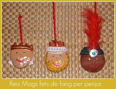 Ornaments de Nadal amb fang i feltre! #sortirambnens