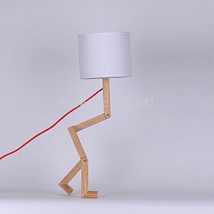 Aliexpress.com : Buy Бесплатная доставка Современные деревянные лампы мужчина оттенок настольные лампы для спальни исследование комнатной тени легкой ткани диаметром 200 мм H 180 мм from Reliable дампа тестера suppliers on Zhong shan Spring lighting mall