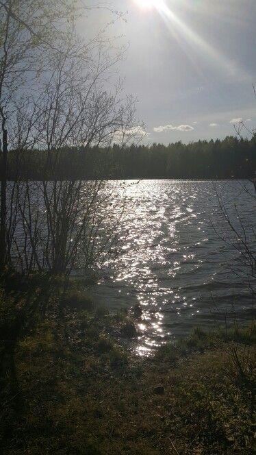 Tampere, Finland. Spring. Tesoma lake.