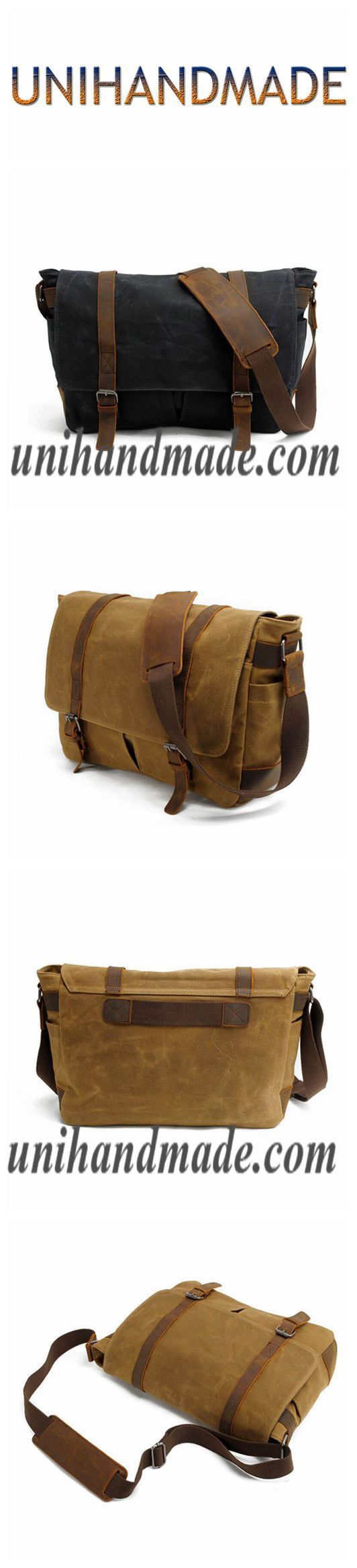 Mens Messenger Bag,Canvas Messenger Bag,Leather Canvas Bag MC16930