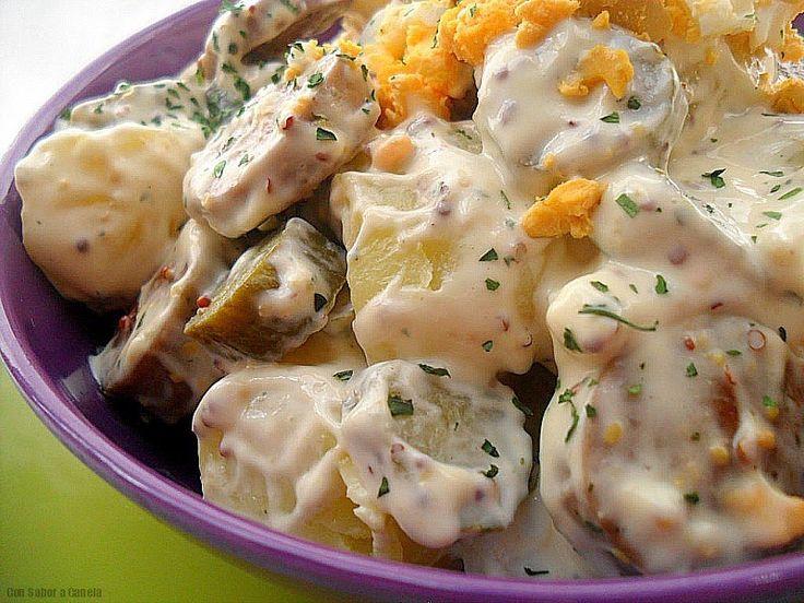 Ensalada alemana de patata kartoffelsalat ensaladas - Ensalada alemana de patatas ...