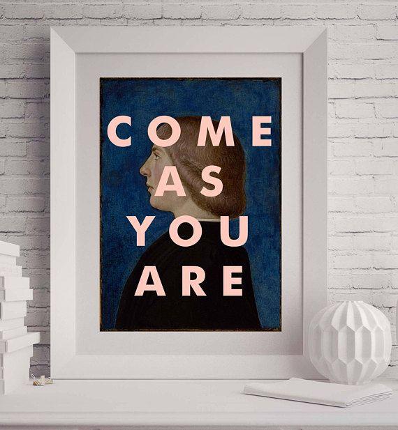 NIRVANA Band Print Wall Art Print Song Lyrics 8x10 Poster