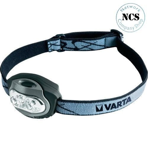 Lampada frontale LED Varta LEDx4 HEAD LIGHT 3AAA a batteria 79 g Nero - Argento