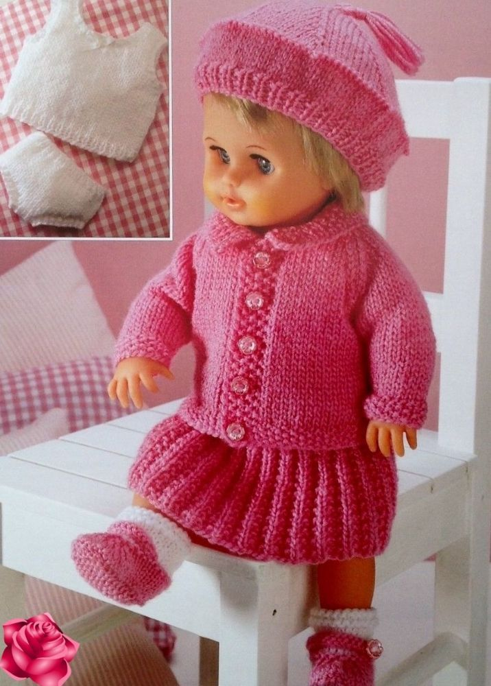 2560b3b52 PDF Digital Knitting Pattern Premature Baby Clothes or Dolls Clothes ...