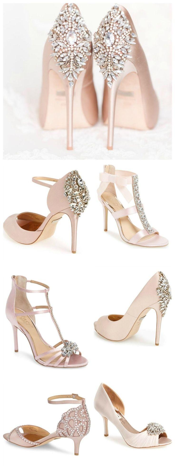 Blush Wedding Shoes (Amy & Jordan Photography)