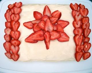 Brooke Bakes!: Red Velvet Canada Day Cake