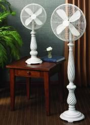 I Love The Old Fashioned Elegance Of This White Pedestal Fan.