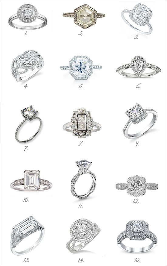 Vintage Diamond Engagement Rings.   Numbers 3 and 5 drooling!