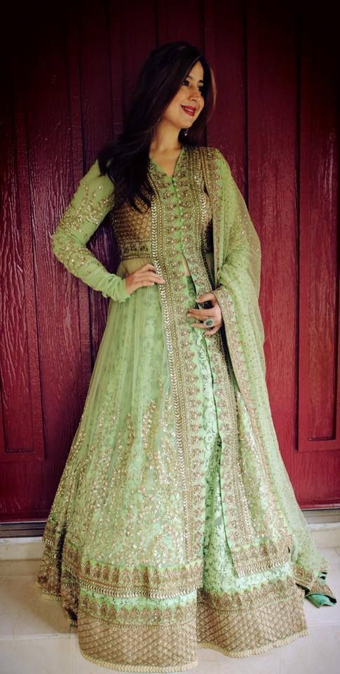 pista color anarkali outfits collection
