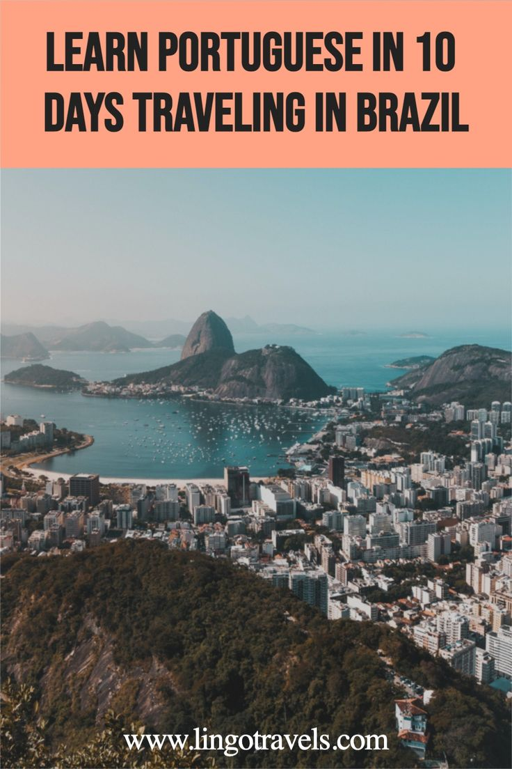 Learn Portuguese in just 10 days traveling to Brazil with Lingo Travels! Take daily Portuguese lessons on our immersive language retreat while traveling and discovering Rio de Janeiro and other more awesome places on our Brazil travel itinerary. #Brazil #Braziltravel #riodejaneiro #travelbrazil #portuguese #learnportuguese
