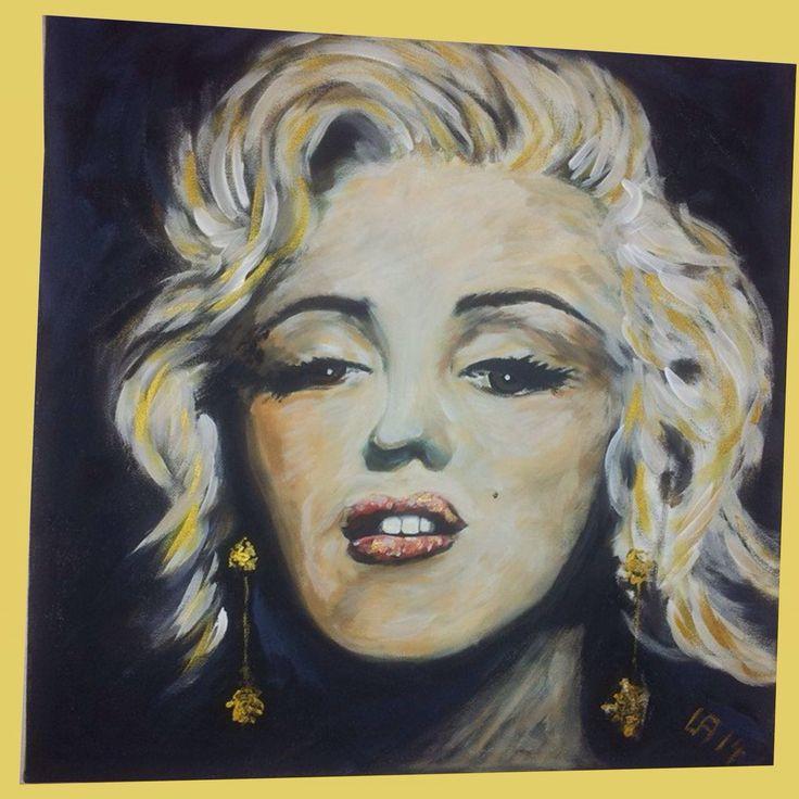 Leinwand 60x60 cm Acryl Marilyn Monroe