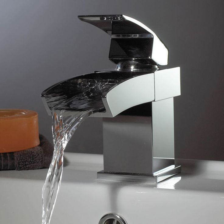 open top bathroom faucet. Going a bit bathroom crazy in our new home and love this cascade tap  43 best Taps images on Pinterest Bathroom ideas