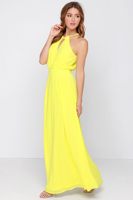 Light of My Life Yellow Maxi Dress at Lulus.com!