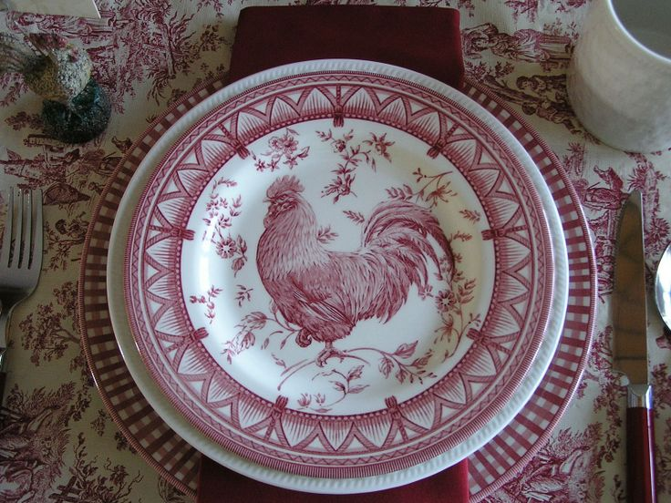 Rooster China Set China Dinnerware Gibson Rooster