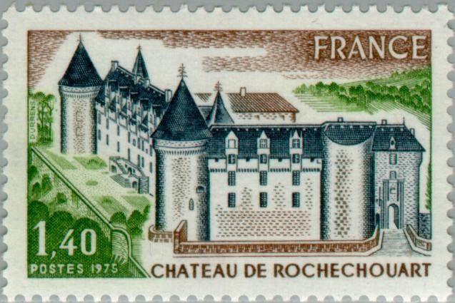 Sello: Castle of Rochechouart (Francia) (Tourism) Yt:FR 1809,Mi:FR 1900,Sn:FR 1419