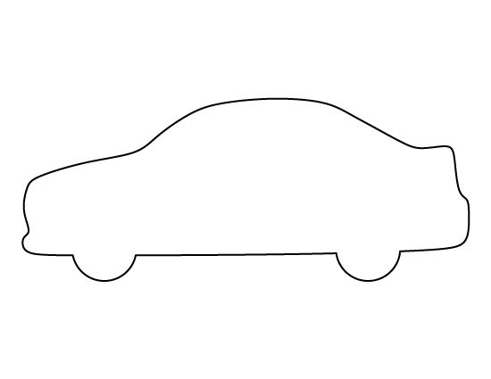 car pattern use the printable outline for crafts creating stencils