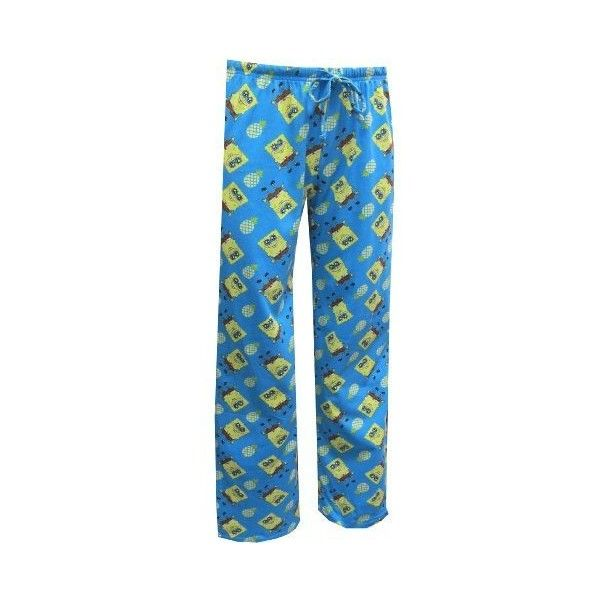 Amazon.com: Nickelodeon SpongeBob and Pineapples Lounge Pants for... ❤ liked on Polyvore featuring intimates, pajamas and sleepwear