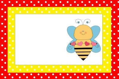 Invitaciones para imprimir gratis de abejas y flores, segunda parte.