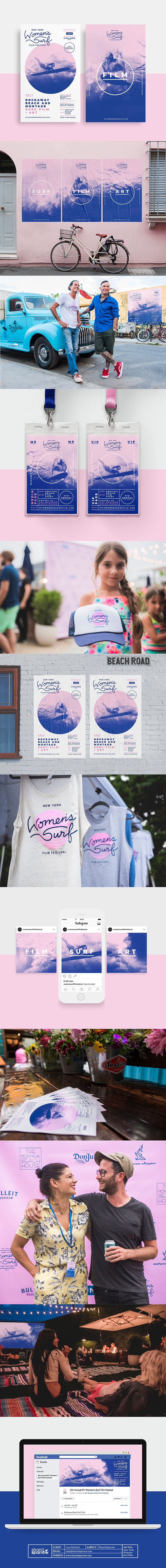 New York Women's Surf Film Festival Branding by Shanti Sparrow