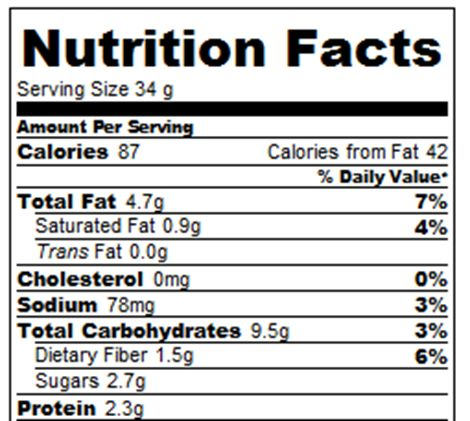 Weight Watchers Points Plus: 2 points per granola bar Nutrition information, based on gram measurements, DOES include the chocolate chips.