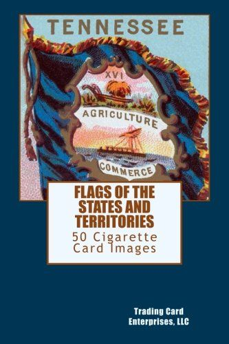 FLAGS OF THE STATES AND TERRITORIES is a 47 cigarette card set issued around 1888 by Allen & Ginter. The front of each card shows the flag of a state or territory. The card backs list the 38 states and 9 territories.  This book contains images of the flags of the 38 states and 9 territories, images of the two different card backs, and a second Massachusetts flag card image showing a white flag.   http://www.amazon.com/dp/1517404584/ref=cm_sw_r_pi_dp_0SUbwb07VHJEQ