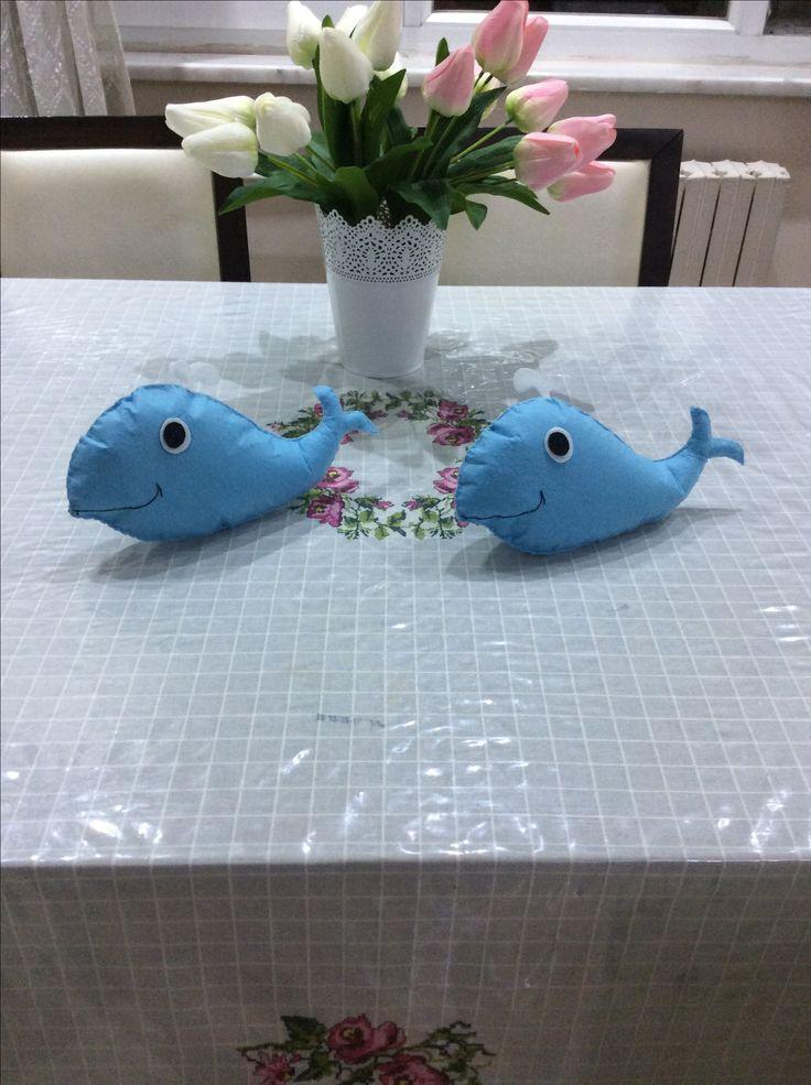 Keçe oyuncak Yunus Felt dolphins