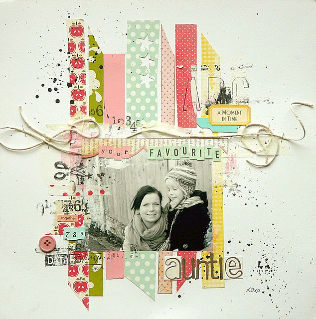 'your favourite auntie' #layout by Magda Bolinska #scrapbook