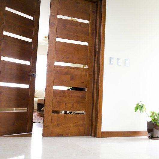 puertas de madera slida modernas ignisterra