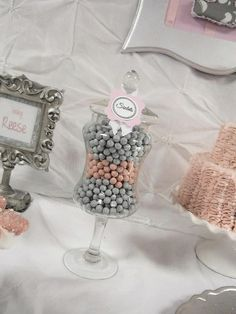 36 best Pink and grey baby shower images on Pinterest Baby showers