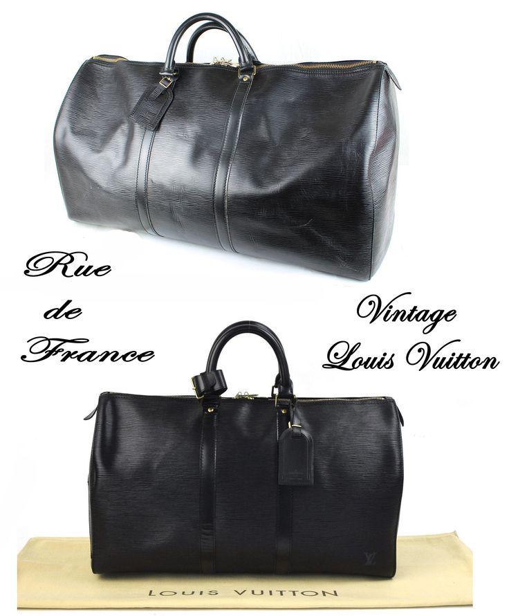 Vintage Louis Vuitton black epi leather bags