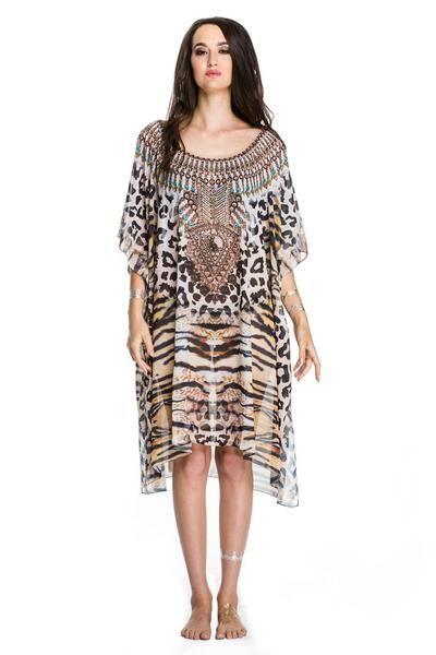 On the Wild Side Czarina Kaftan Dress KC-CR190