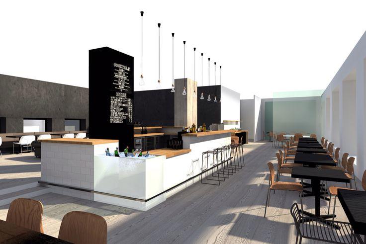 Restaurant Lungberg in Punavuori, Helsinki. Designed and 3D visualised by sisatila.fi