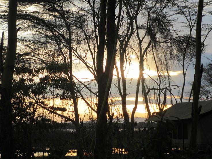 Sunset over Lake Naivasha - Kenya