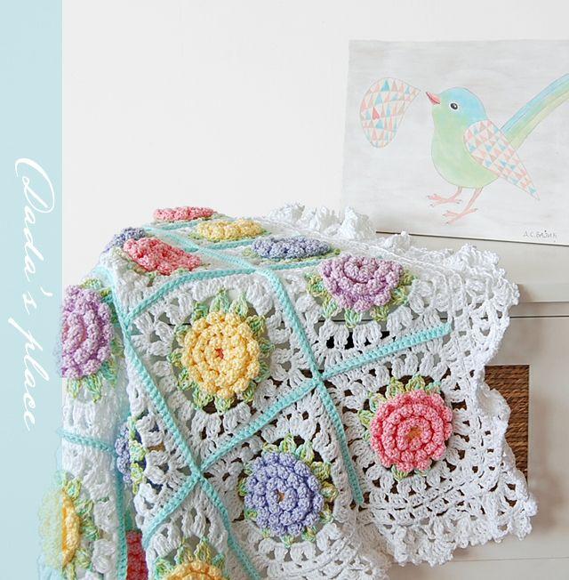 Mejores 108 imágenes de Crochet Roses en Pinterest | Flores de ...