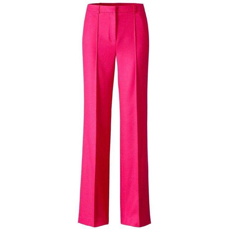 Le pantalon droit 67% polyester, 33% viscose. Fermé par glissière. 2 poches côté. 2 poches au dos.Pli nervuré devant et pli marqué au dos.     Entrejambe 83 cm. Bas 25 cm