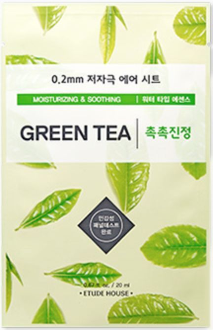 Etude House 0.2 Therapy Air Mask - Green Tea - 20ml Pflege ♡ Relaxing ♡ SALE ♡ ETUDE HOUSE ♡ Moisturizing ♡ Soothing ♡ Green Tea ♡ Dry Skin ♡ Sensitive Skin