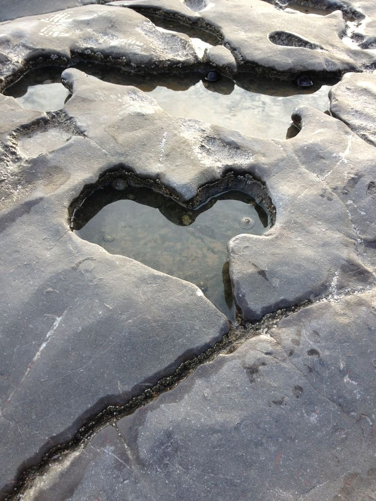 Heart shaped rock puddle, love nature, love life!