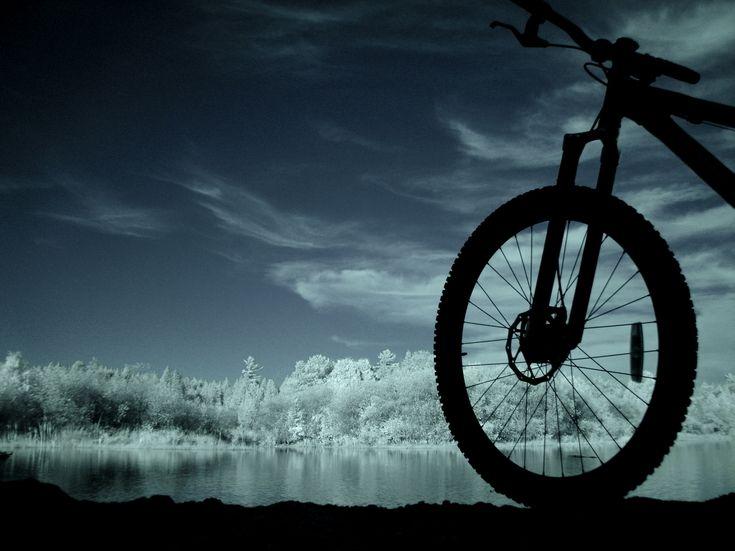 It always feels like a whole new world when mountain biking.