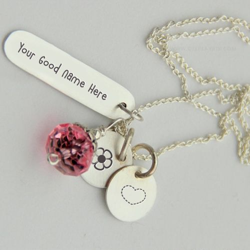 Get your name in beautiful style on Silver Charming Necklace picture. You can write your name on beautiful collection of Jewelry pics. Personalize your name in a simple fast way. You will really enjoy it.
