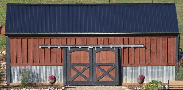 creating a simple and inexpensive rain water collection system, curb appeal, go green, Our barn s metal roof is our supply of water for the entire farm