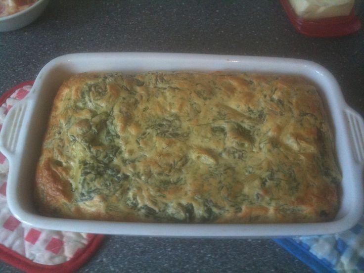 spinazie pasta souffle uit de oven! favoriet bij de kids