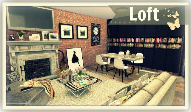 Sims 4 - Building on Newcrest - Cozy Loft