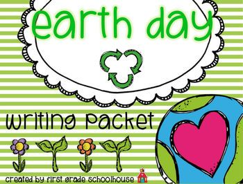 Earth Day Writing Packet {Freebie} A packet of fun writing activities to celebrate Earth Day.